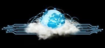 世界和云彩连接 免版税库存图片