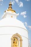 世界和平塔在尼泊尔 免版税库存图片