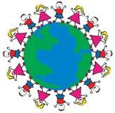世界和平孩子 免版税图库摄影