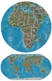 世界和非洲地图 库存例证