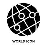 世界在白色背景隔绝的象传染媒介,商标概念  库存例证