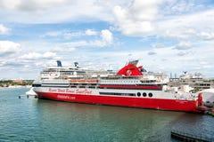 世界在迈阿密,美国依靠bimini超级快速的巡航 库存照片