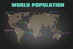 世界地图人口传染媒介设计 免版税库存照片
