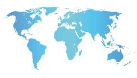 世界地图例证 免版税图库摄影