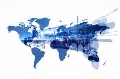 世界地图例证 免版税库存照片