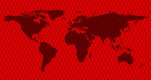 世界地图和英国兰开斯特家族族徽的概念性庆祝图象 向量例证