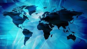 世界地图大陆,商业新闻题为图表 库存照片