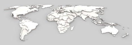 世界地图安心 向量例证