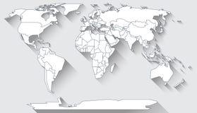 世界地图平的设计 向量例证
