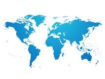 世界地图手图画传染媒介 库存照片
