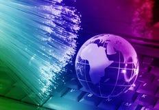 世界地图技术样式 免版税库存图片