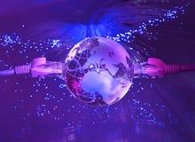 世界地图技术样式 库存图片