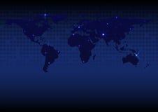 世界地图摘要光背景 库存图片