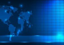 世界地图摘要背景传染媒介例证 免版税库存图片