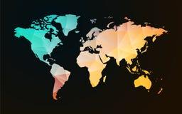 世界地图淡色几何形状 免版税库存照片