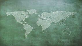 世界地图灰色形状  皇族释放例证
