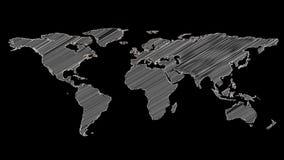 世界地图灰色形状  向量例证