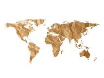 世界地图纹理 免版税库存照片