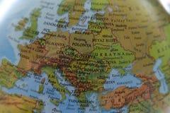 世界地图背景-欧罗巴 免版税图库摄影