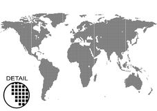 世界地图背景 皇族释放例证