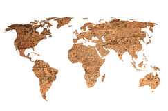 世界地图葡萄酒艺术品 免版税库存图片