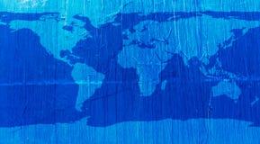世界地图蓝色纹理 皇族释放例证