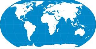 世界地图蓝色 免版税库存照片