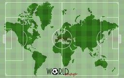 世界地图足球 免版税库存图片