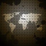 世界地图钢纹理设计背景 免版税库存照片