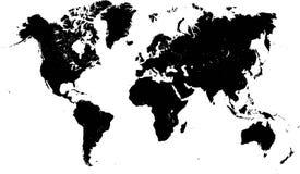 世界地图高细节 免版税库存照片