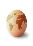 世界地图鸡蛋 免版税库存照片