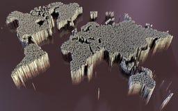 世界地图,摘要,科幻 库存照片