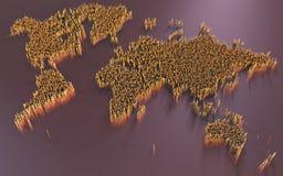 世界地图,摘要,科幻 库存图片