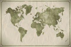 世界地图水彩 免版税图库摄影
