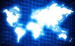 世界地图 免版税库存照片