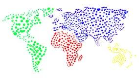 世界地图 库存照片