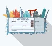 世界地标票 免版税库存照片