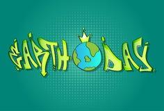 世界地球日世界4月假日地球穿戴冠横幅 免版税库存照片