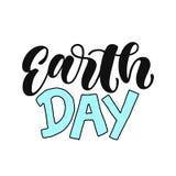 世界地球日手写的字法 世界地球日贺卡和海报的印刷术设计 设计模板庆祝 Vec 向量例证