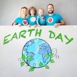 世界地球日春天假日概念 免版税库存照片