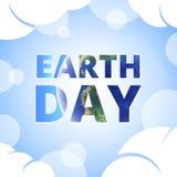世界地球日标题 库存照片