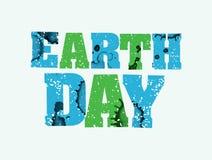 世界地球日概念被盖印的词艺术例证 免版税库存图片