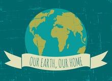 世界地球日海报 库存照片