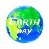 世界地球日的传染媒介例证 免版税图库摄影