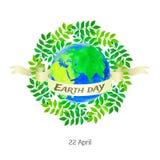 世界地球日的传染媒介例证 库存照片