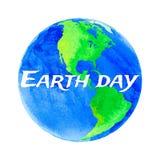世界地球日的传染媒介例证 免版税库存照片