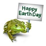 世界地球日青蛙 库存照片