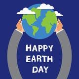 世界地球日,地球在手上  免版税图库摄影