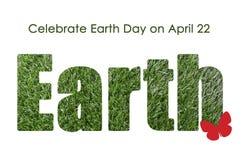 世界地球日,概念4月22日, 免版税库存照片