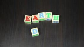 世界地球日,立方体的动画 股票录像